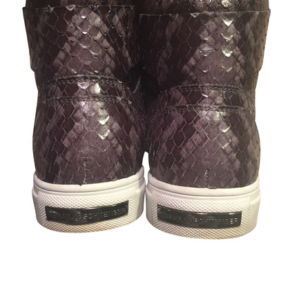 Kennel & Schmenger Gris sneaker high-top avec Python Imprimer