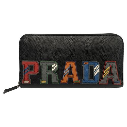 e8d55a9160 Prada Bag Purse Leather in Black - Second Hand Prada Bag Purse ...