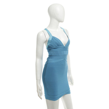 Hervé Léger Bandage dress in sky blue