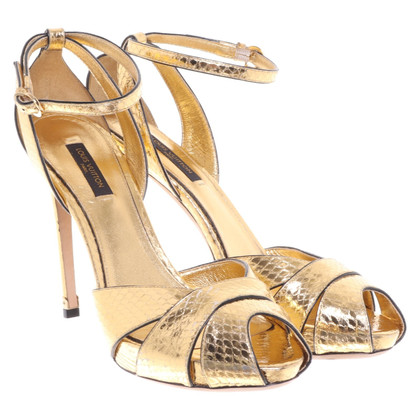 Yves Saint Laurent Golden sandals