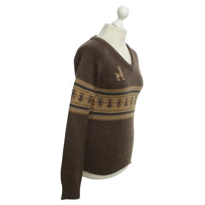 Gant Pull en laine marron