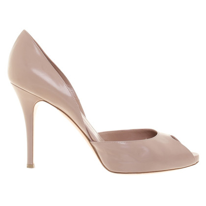 Gianvito Rossi Peeptoes in Nude