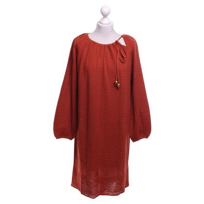 Missoni Knit dress in rust red