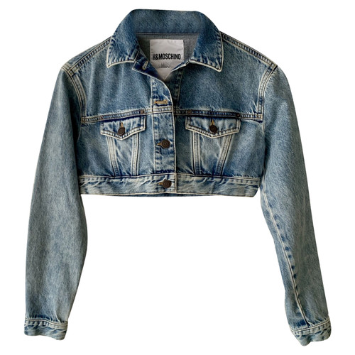Moschino JackeMantel aus Jeansstoff in Blau Second Hand