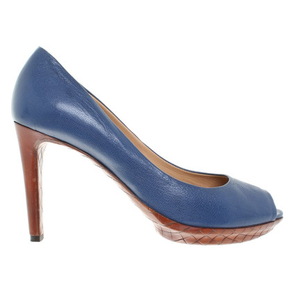 Bottega Veneta Peeptoes in blauw
