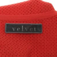 Velvet Top met kant patroon