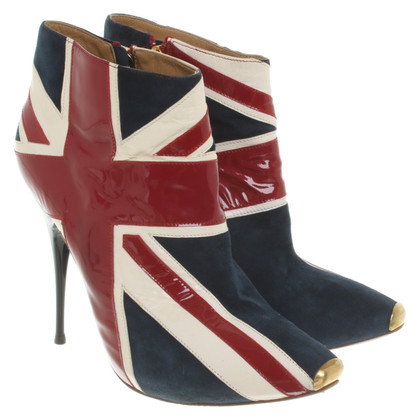 McQ Alexander McQueen Multicolored leather ankle boots