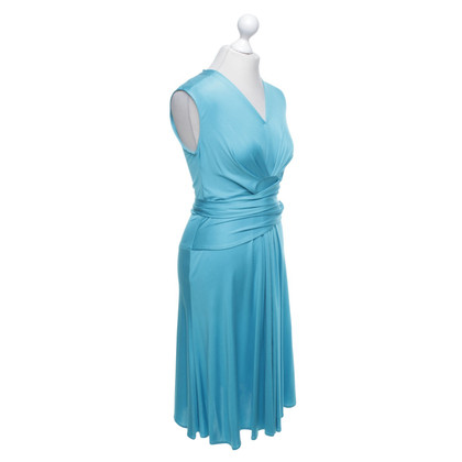 Issa Silk dress in turquoise blue