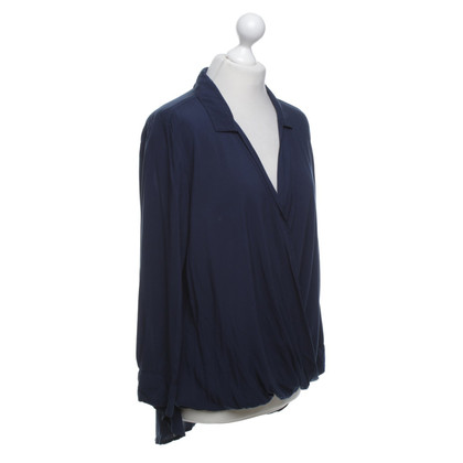 Velvet Blouse shirt in donkerblauw