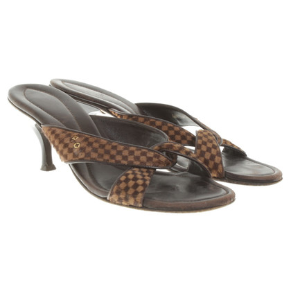 Louis Vuitton Mules met Damier niveaupatroon