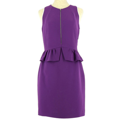 Sandro purple dress zipped