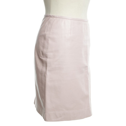 Marc Cain Leather skirt in pink