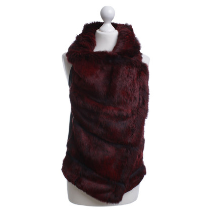 Helmut Lang Fur vest in red