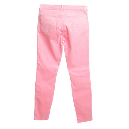 J Brand trousers in neon pink