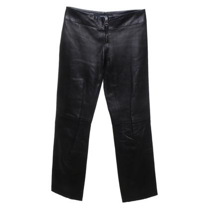 Versace Leren broek in bruin