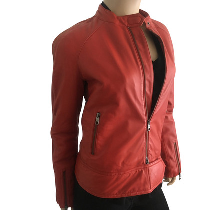 Closed Leather jacket in biker style