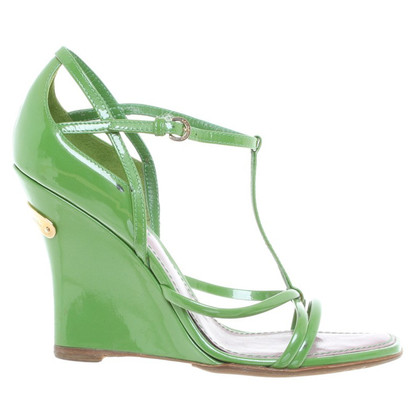 Louis Vuitton Sandalen in het groen