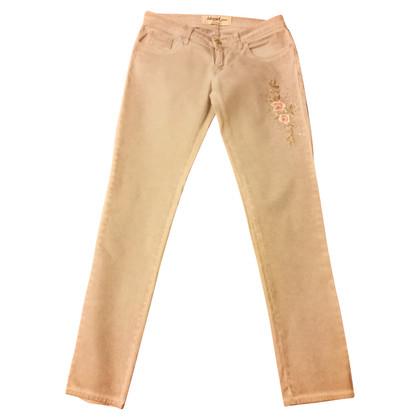 Blumarine Jeans con ricami rosa