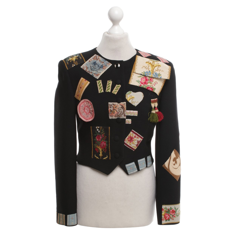 Moschino Short jacket in black / multicolor