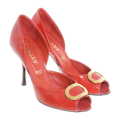 Bally Peeptoes in Rot