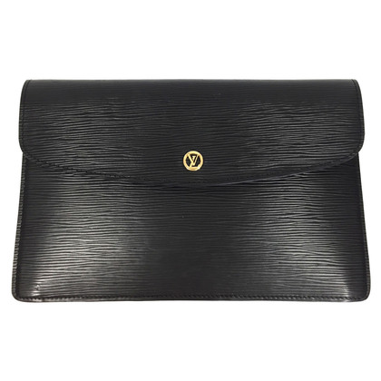 "Louis Vuitton ""Pochette Montaigne Epi Leder"" in Schwarz"
