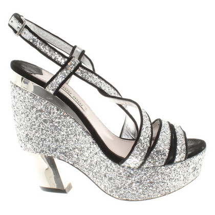 Miu Miu Silver-colored sandals