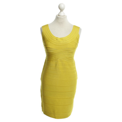 Hervé Léger Dress yellow