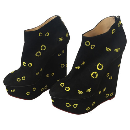 Charlotte Olympia Wedges in black / yellow