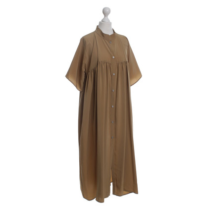 Marcel Ostertag Oversized-Kleid in Ocker