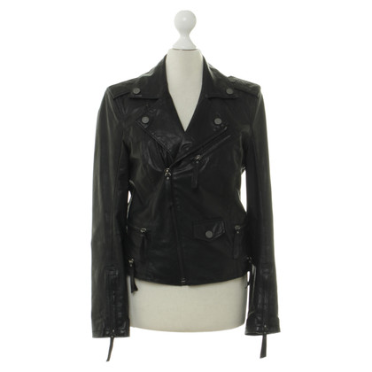 Karl Lagerfeld Leather jacket in black
