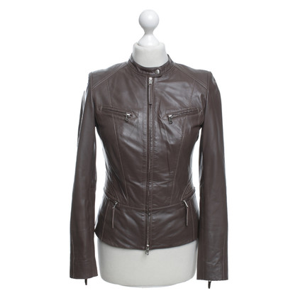 Marc Cain Short jacket made of lamb nappa leather