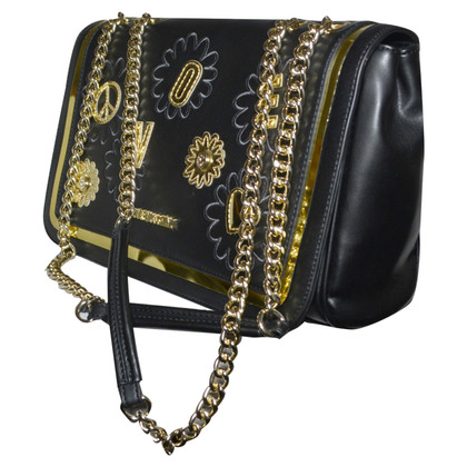 Moschino Love Handbag in black and gold