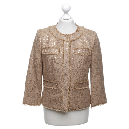 Michael Kors Bouclé jacket in brown / gold
