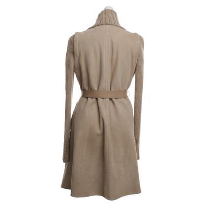 Loro Piana Sheepskin coat in beige
