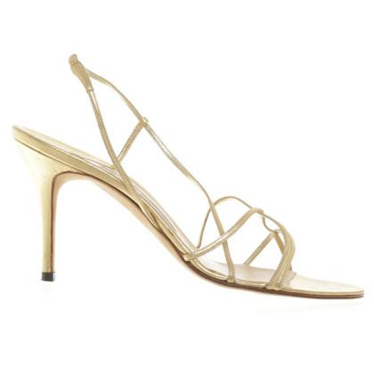 Manolo Blahnik Gold-colored sandals