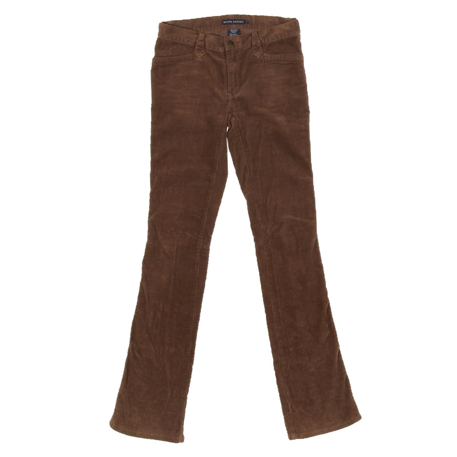 best shoes catch official supplier Ralph Lauren Trousers Cotton in Brown - Second Hand Ralph Lauren ...
