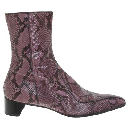 Prada Snakeskin ankle boots in purple