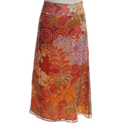 Kenzo Silk skirt with a floral print