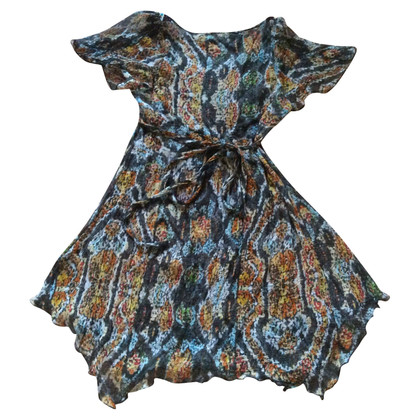 Antik Batik Silk dress with embroidery