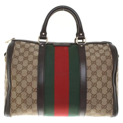 Gucci Handtas met patroon Guccissima