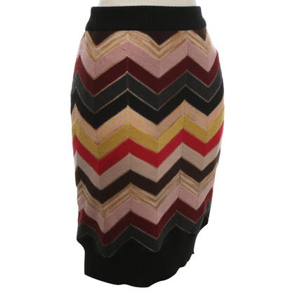 Missoni skirt with chevron stripes