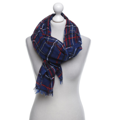 Riani Scarf in blue with check pattern