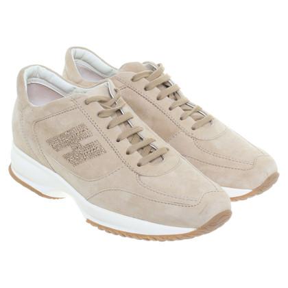 Hogan Sneakerwedges camoscio
