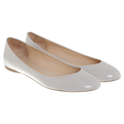 Jil Sander Ballerina Patent Leather Gray