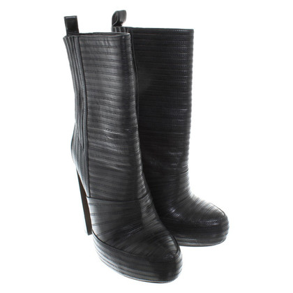 Alexander Wang Plateau Leather Ankle Boots