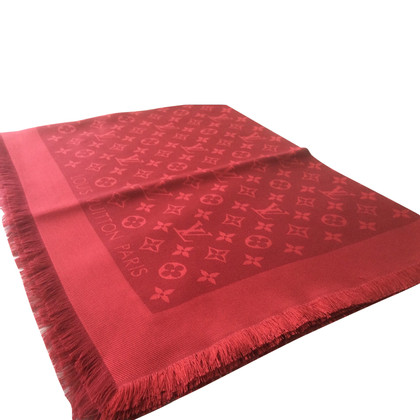 Louis Vuitton Monogram scarf in red