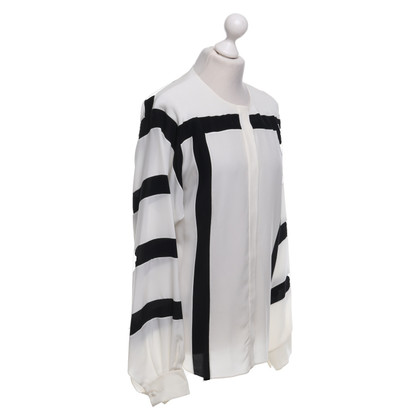 Chloé Silk blouse in black / white