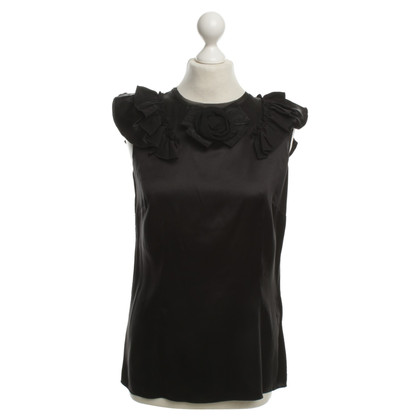 Dolce & Gabbana Silk Top in zwart