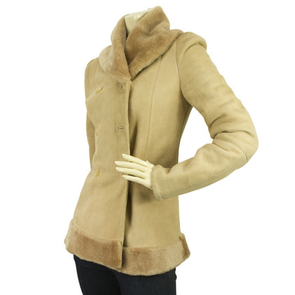 Blumarine giacca di pelle scamosciata