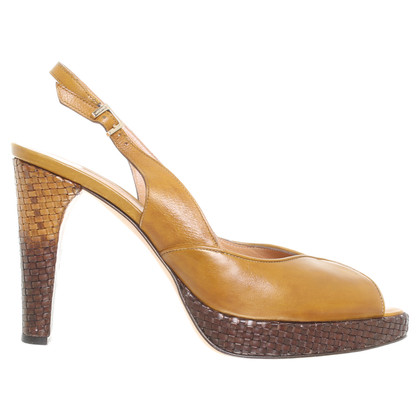 Santoni Slingback peep-toes in Brown
